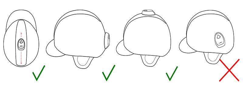 Schéma de positionnement capteur cavalier